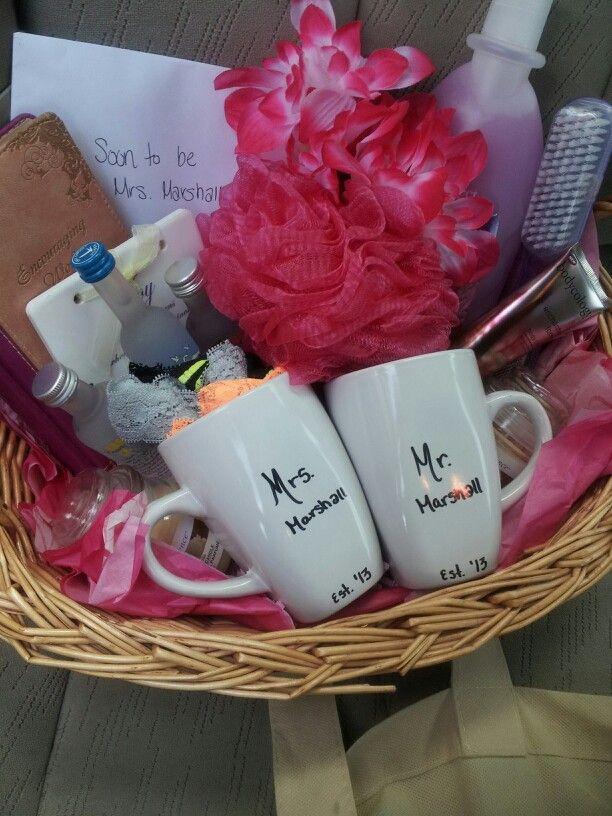 Bridal Gift Basket Ideas  Bridal shower t basket Gifts Pinterest