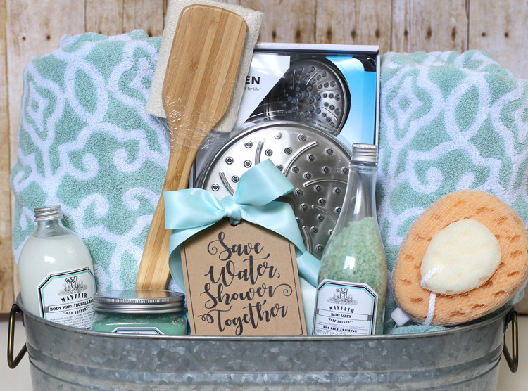 Bridal Gift Basket Ideas  Shower Themed DIY Wedding Gift Basket Idea