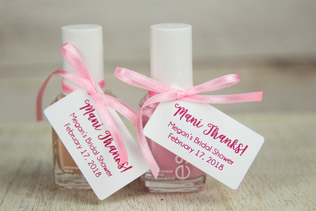 Bridal Shower Thank You Gift Ideas  Mani Thanks Tags Bridal Shower Thank You Gifts Baby