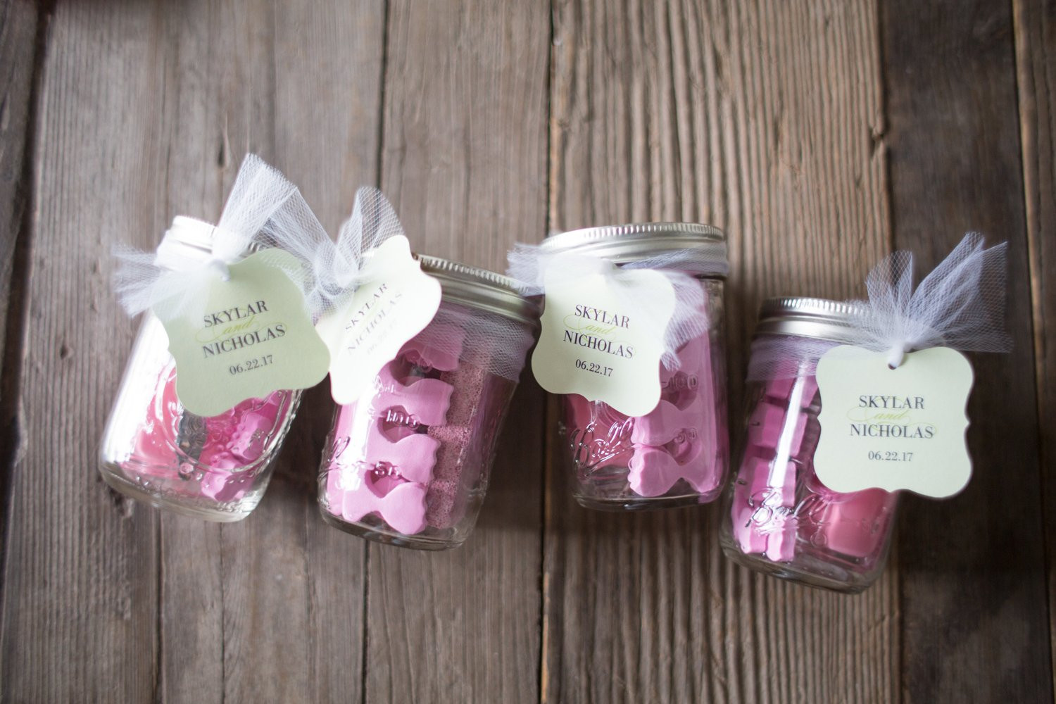 Bridal Shower Thank You Gift Ideas  Bridal Shower Party Favor Pedicures in a Jar