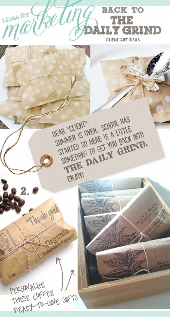 Business Thank You Gift Ideas  marketing ideas client t ideas coffee ts