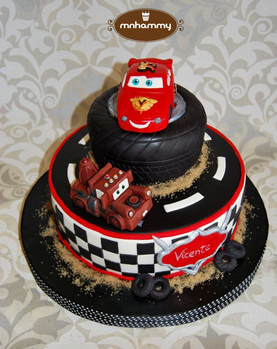 Cars Birthday Cake Ideas  Cars Disney by mnhammy CakesDecor cake