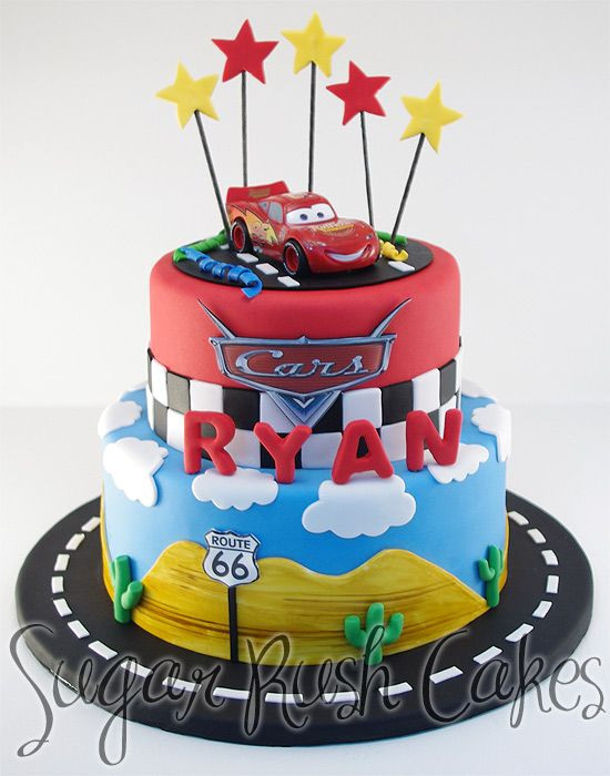 Cars Birthday Cake Ideas  disney cars cake Google Search 4th birthday