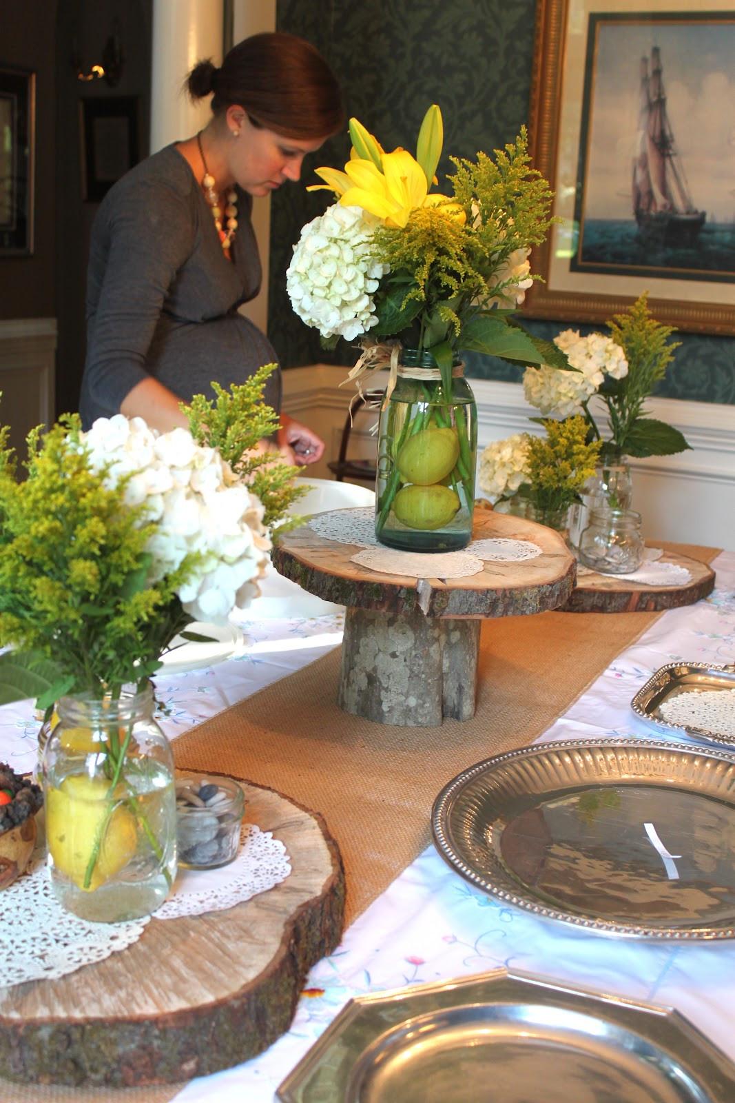 Centerpiece Ideas For Engagement Party  CREATE STUDIO A Rustic Feminine Wedding Shower