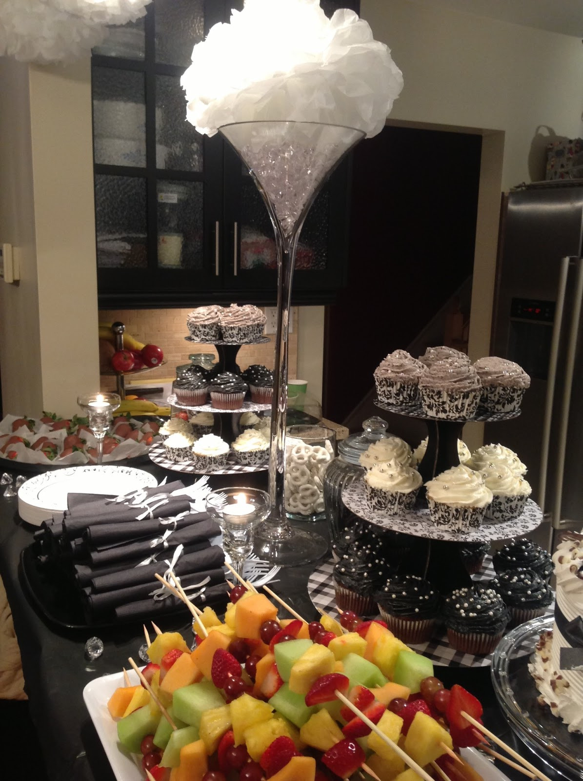 Centerpiece Ideas For Engagement Party  Diary of a Trendaholic Hosted an engagement shower