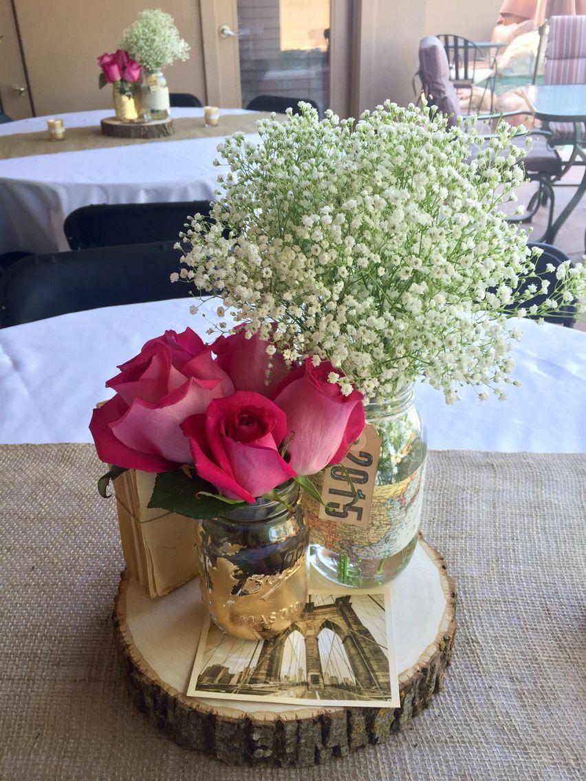 Centerpiece Ideas For Graduation Party  Mason jar centerpieces graduation party