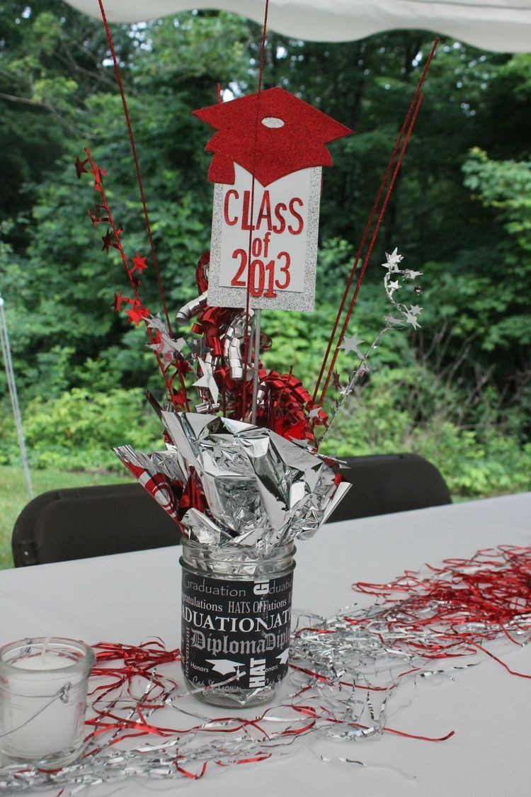 Centerpiece Ideas For Graduation Party  Pin by Michelle Kaminsky on Graduation