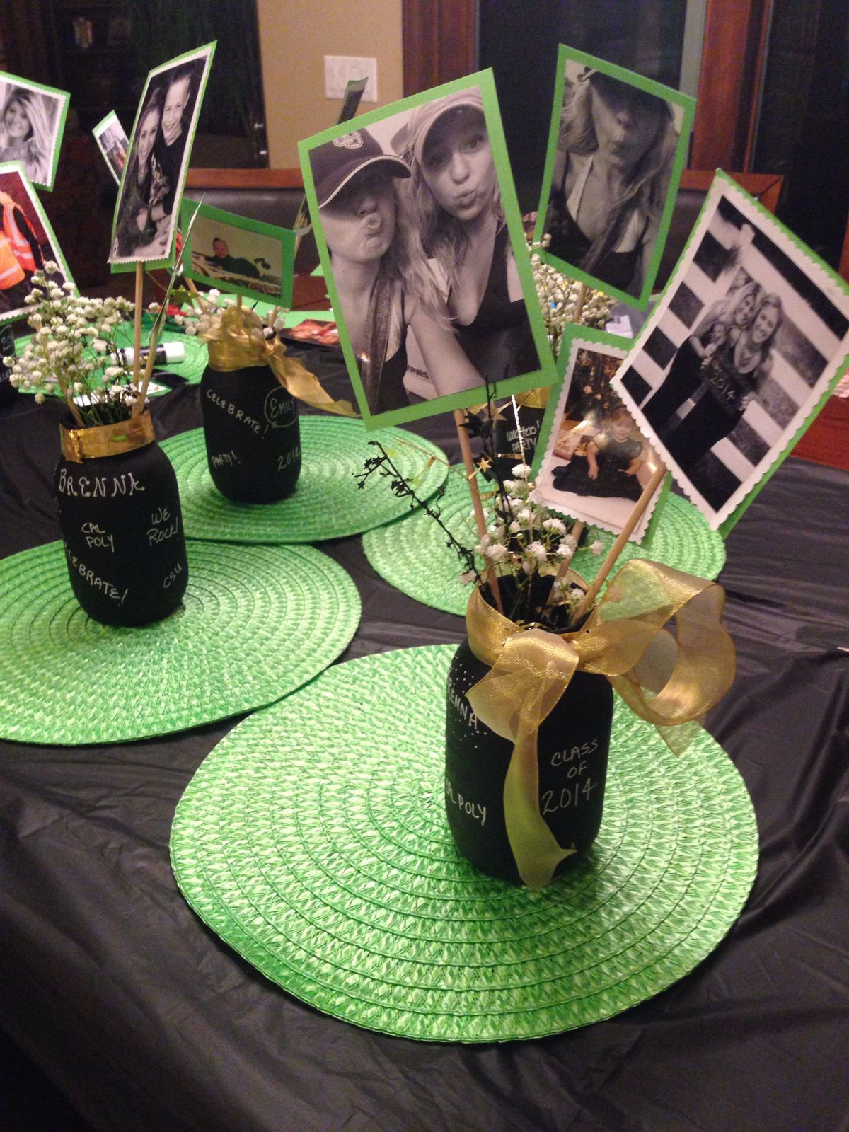 Centerpiece Ideas For Graduation Party  graduation centerpieces for guys