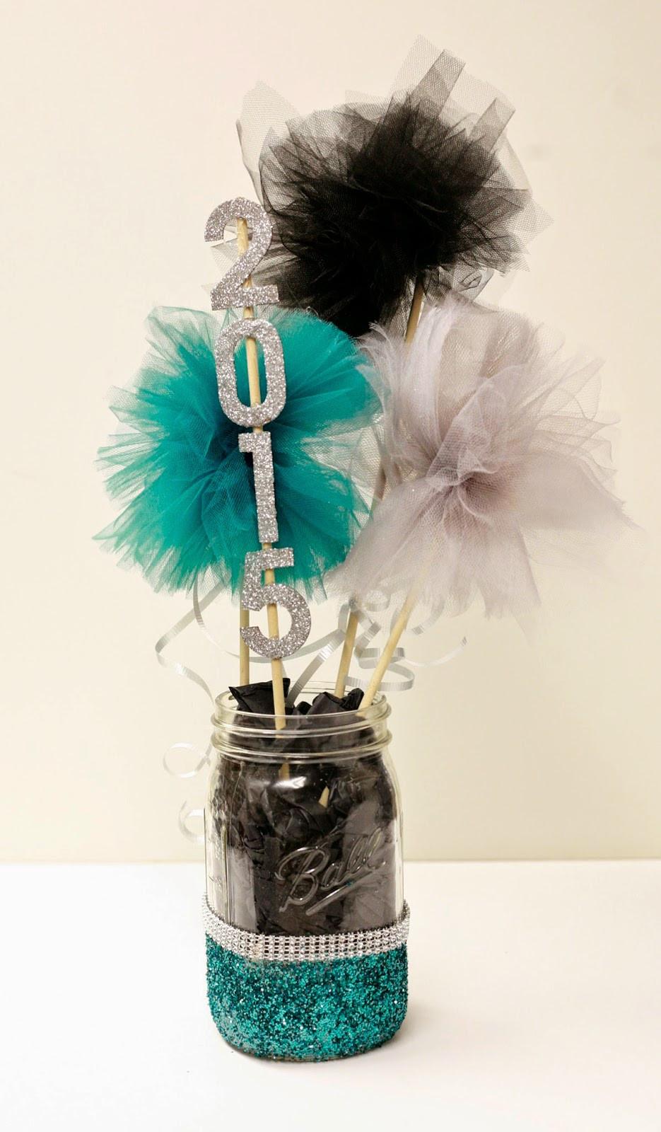 Centerpiece Ideas For Graduation Party  Ben Franklin Crafts and Frame Shop DIY Graduation Party Decor