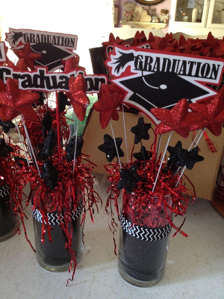 Centerpiece Ideas For Graduation Party  Best 25 Graduation party centerpieces ideas on Pinterest