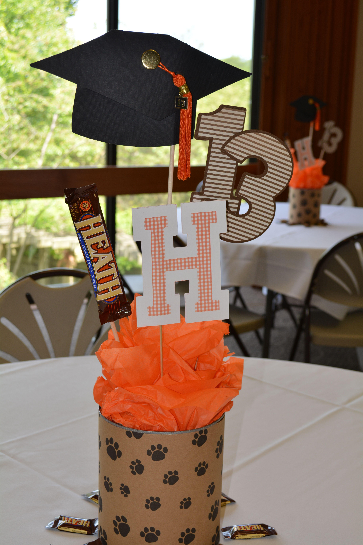 Centerpiece Ideas For Graduation Party  Graduation table centerpieces with Cricut cuts Jolee