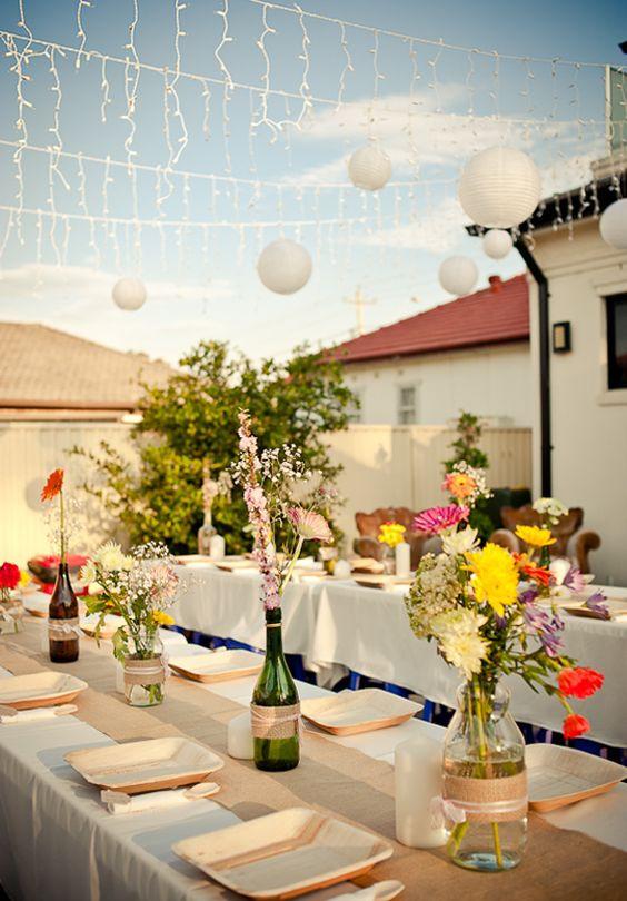 Cheap Backyard Party Ideas  inexpensive outdoor weddings