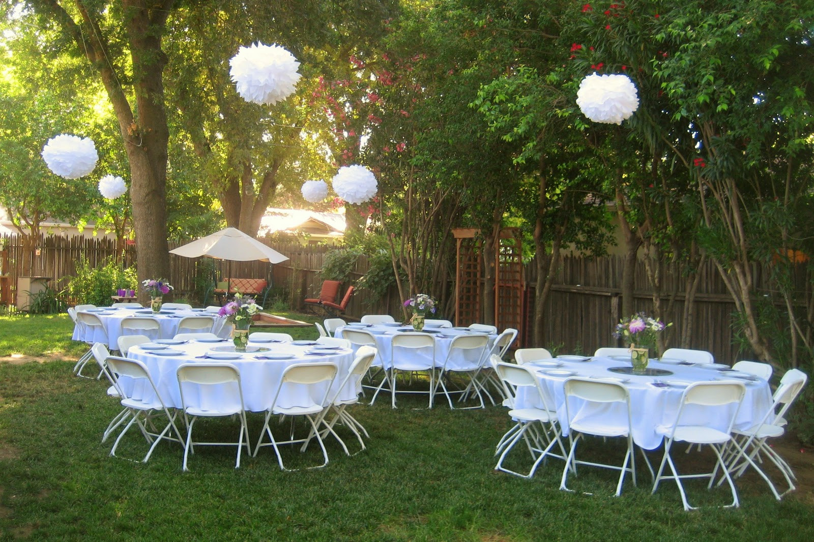 Cheap Backyard Party Ideas  A resting place for pleted Projects Backyard Bridal