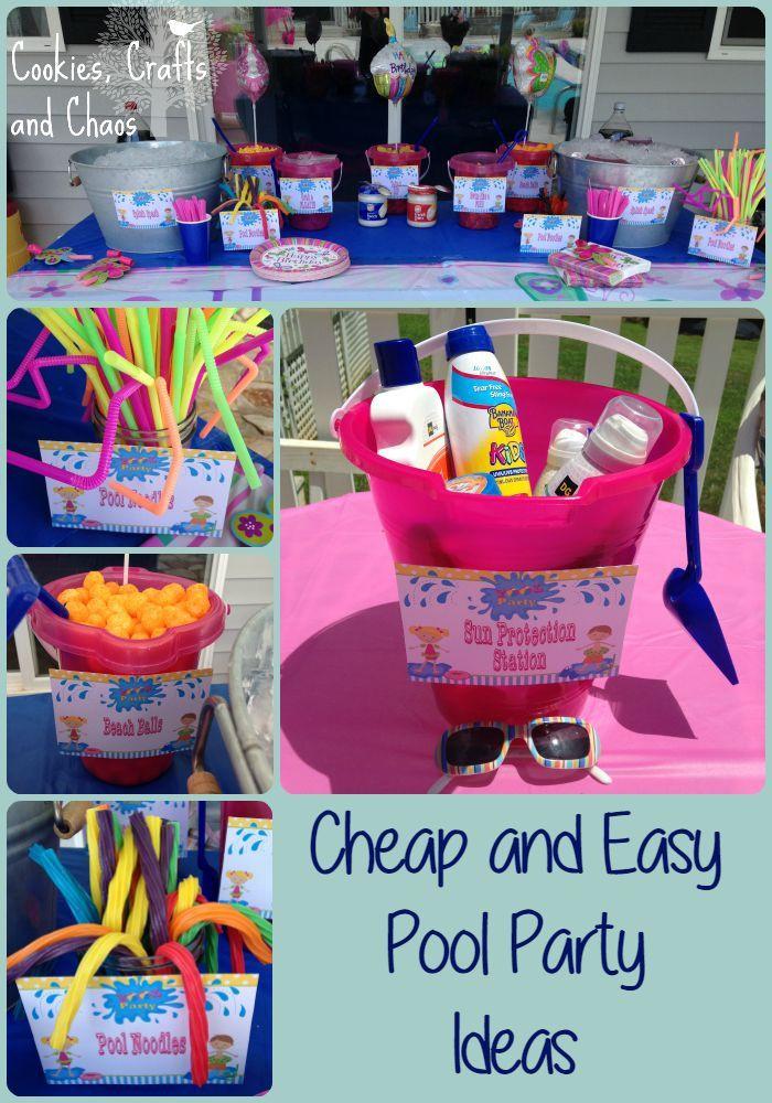 Cheap Pool Party Ideas  Pool party ideas Cheap and easy diy summer poolparty