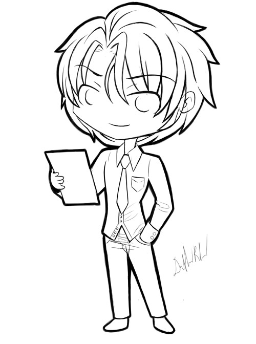 Chibi Boys Coloring Pages  Chibi Boy Drawing at GetDrawings