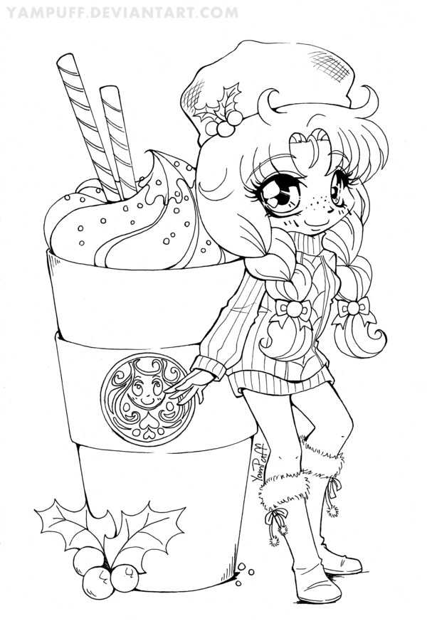 Chibi Boys Coloring Pages  YamBucks Chibi Lineart COLORING CONTEST by YamPuff