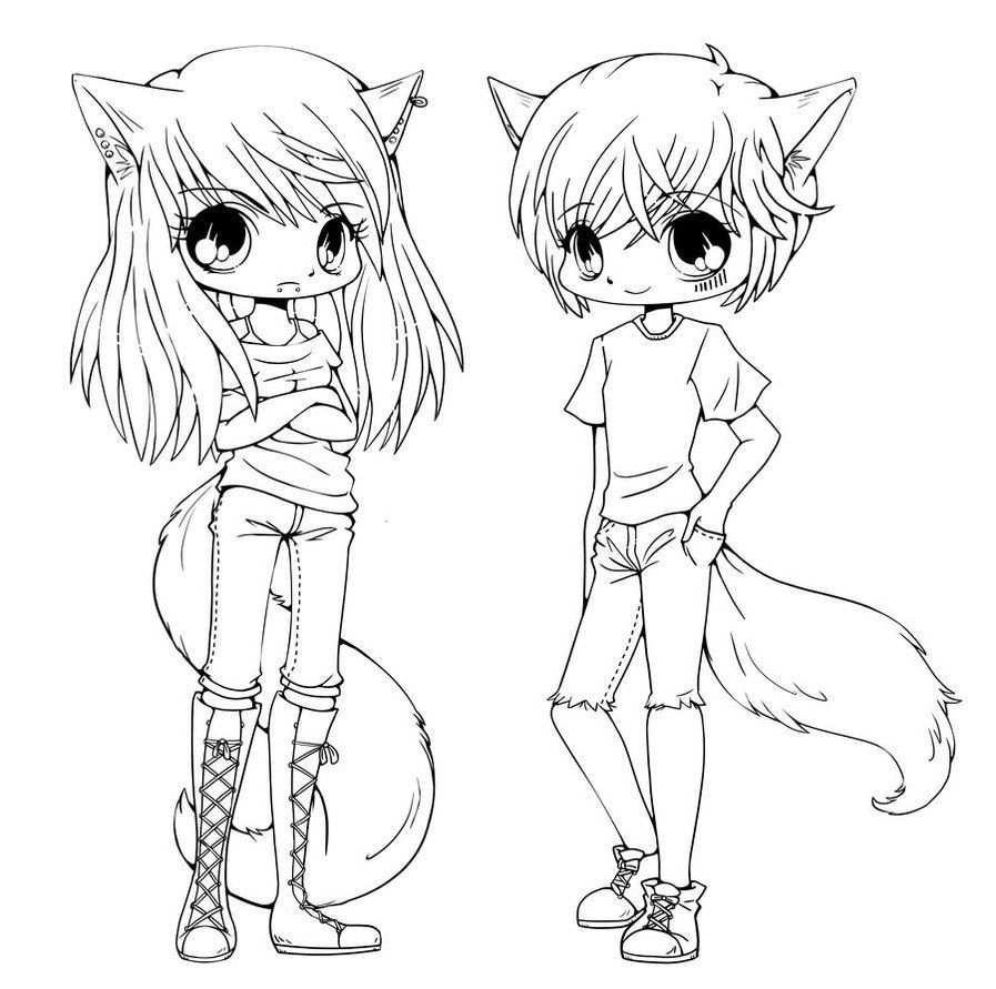 Chibi Boys Coloring Pages  Chibi coloring pages to and print for free