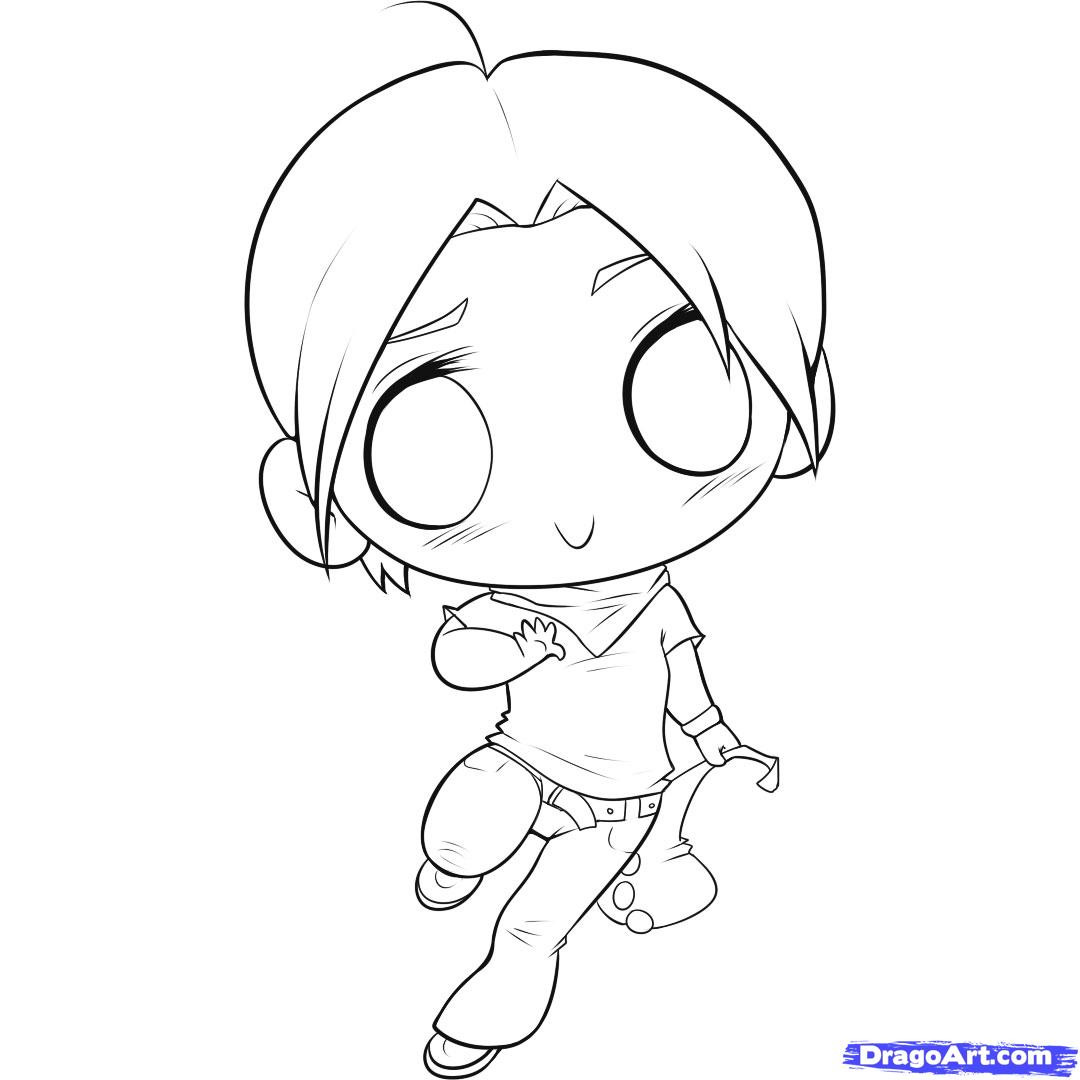 Chibi Boys Coloring Pages  Drawing a Chibi Step by Step Chibis Draw Chibi Anime