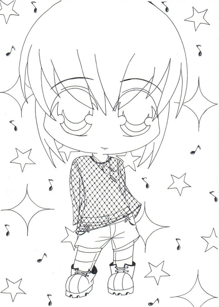 Chibi Boys Coloring Pages  Chibi Boy by jusoks on DeviantArt