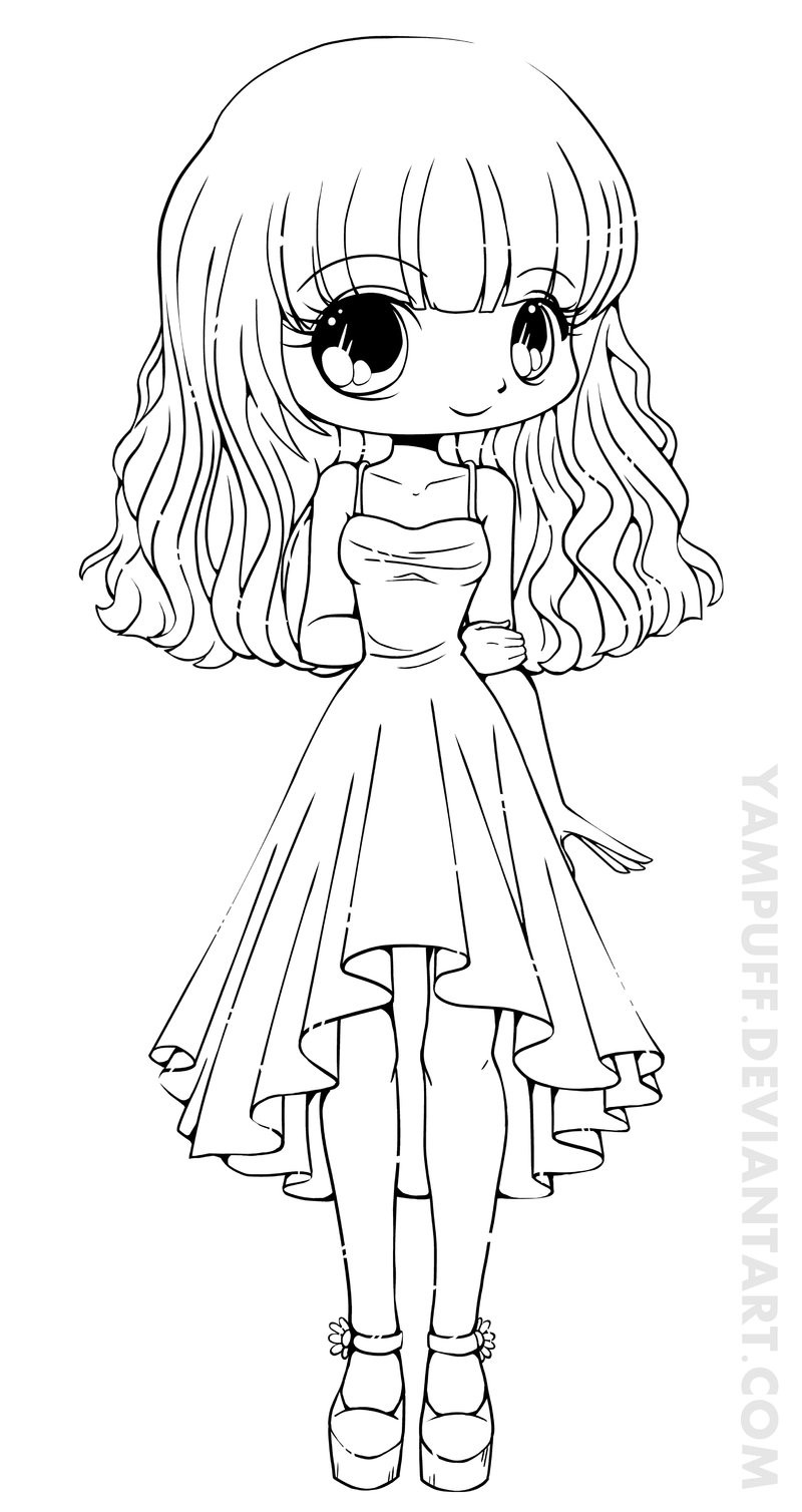 Chibi Boys Coloring Pages  Teej Chibi Lineart mission by YamPuff on DeviantArt