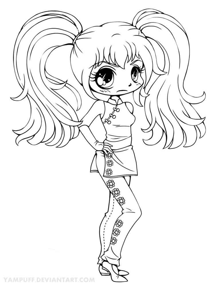 Chibi Boys Coloring Pages  Chibi coloring pages Free Printable Chibi coloring pages