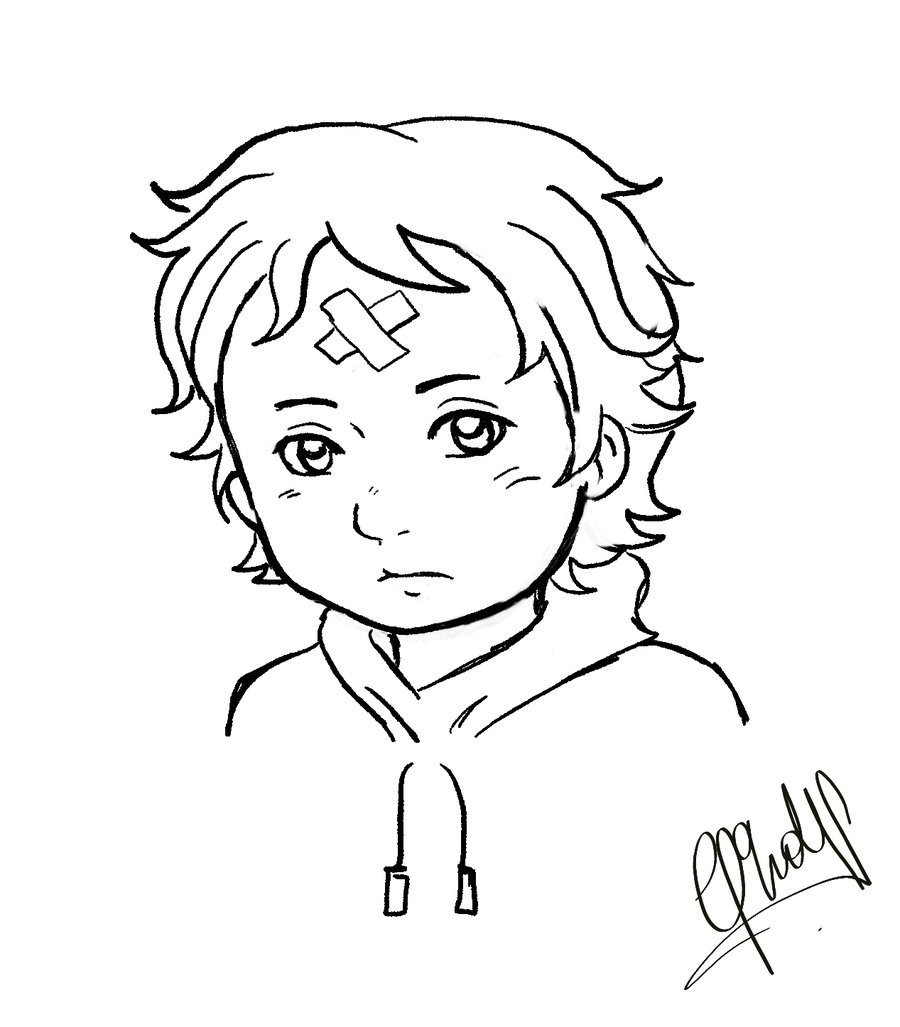Chibi Boys Coloring Pages  Little boy sin color xD by Chibi Ragdoll on DeviantArt