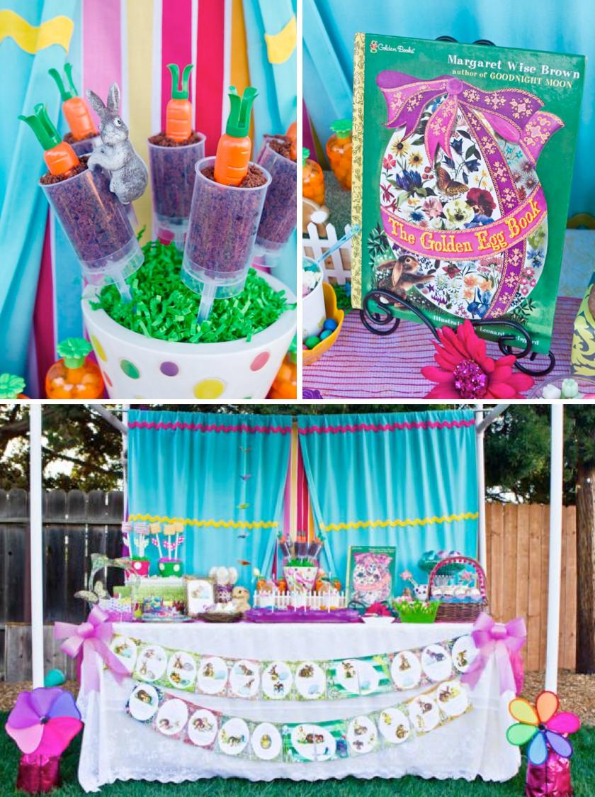 "Children'S Easter Party Ideas  Kara s Party Ideas ""The Golden Egg Book"" Themed Boy Girl"