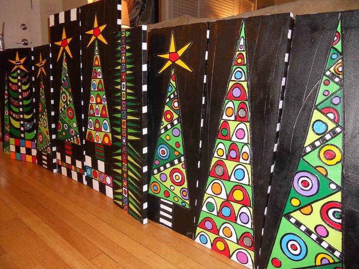 Christmas Arts Ideas  árvore de natal tecido