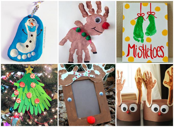 Christmas Arts Ideas  21 Handprint and Footprint Christmas Crafts I Heart Arts