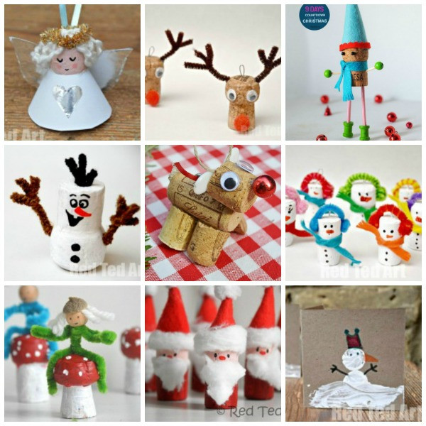 Christmas Arts Ideas  12 Christmas Cork Crafts Getting Festive Red Ted Art