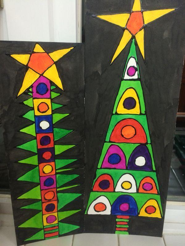 Christmas Arts Ideas  197 best art lessons winter images on Pinterest