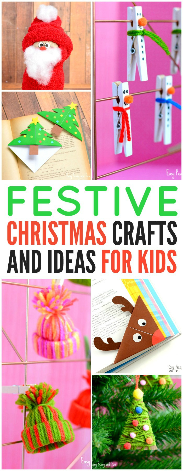 Christmas Arts Ideas  Festive Christmas Crafts for Kids Tons of Art and