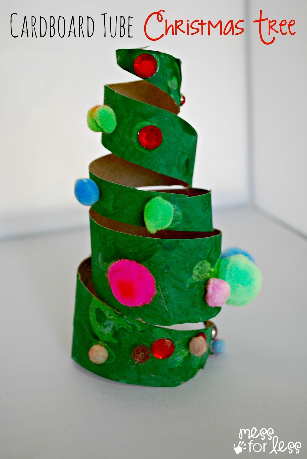Christmas Craft Ideas For Preschoolers  Christmas Crafts for Kids Cardboard Tube Christmas Tree