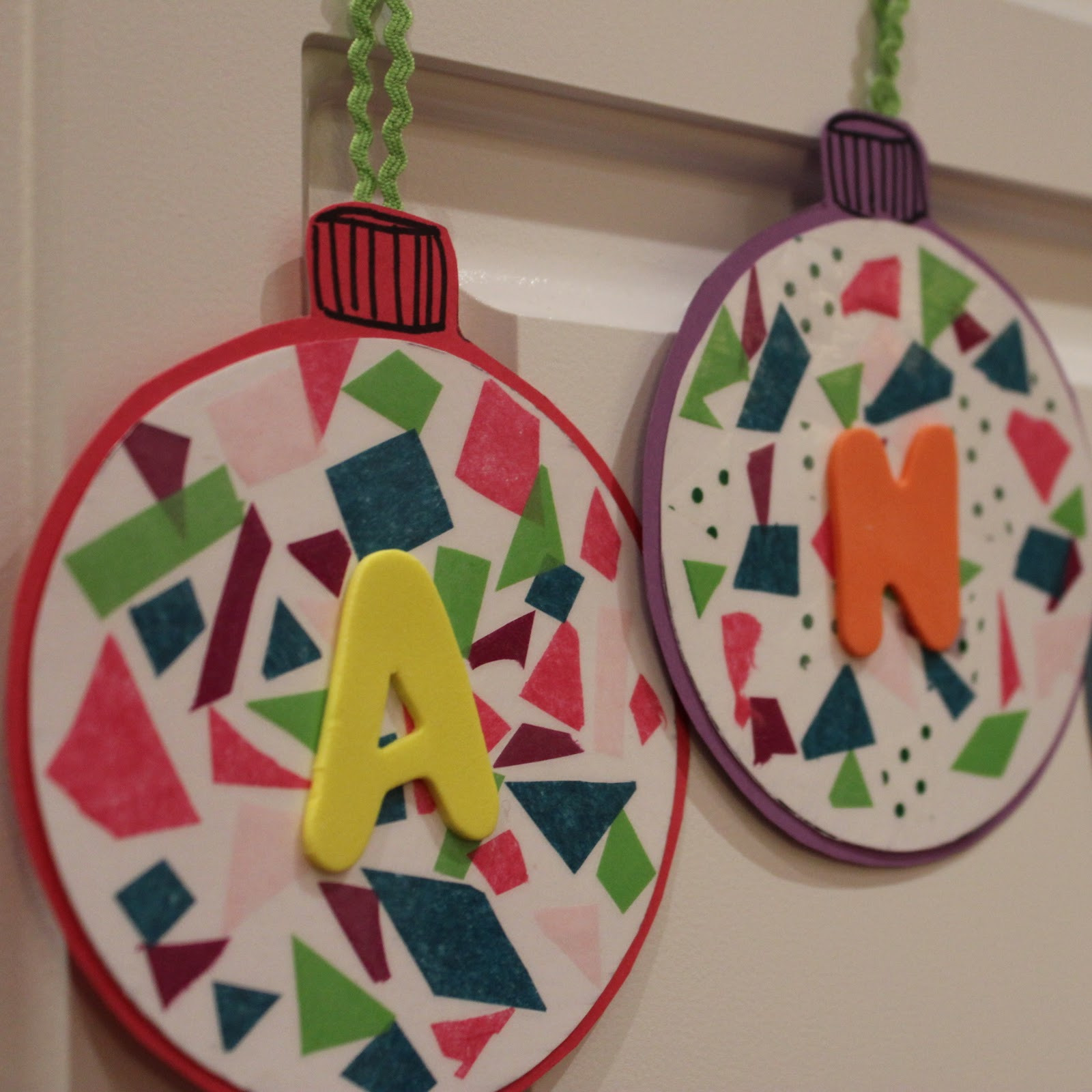 Christmas Craft Ideas For Preschoolers  Toddler Approved Snippin Name Ornaments with BOB Books