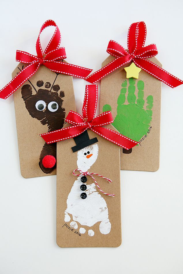 Christmas Craft Ideas For Preschoolers  Footprint Christmas Ornaments eighteen25