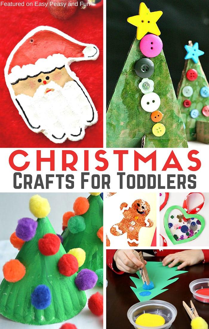Christmas Craft Ideas For Preschoolers  Simple Christmas Crafts for Toddlers Easy Peasy and Fun