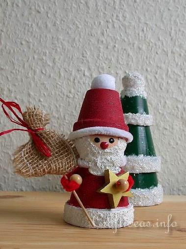 Christmas Crafts For Adults  Free Christmas Craft Project Clay Pot Santa