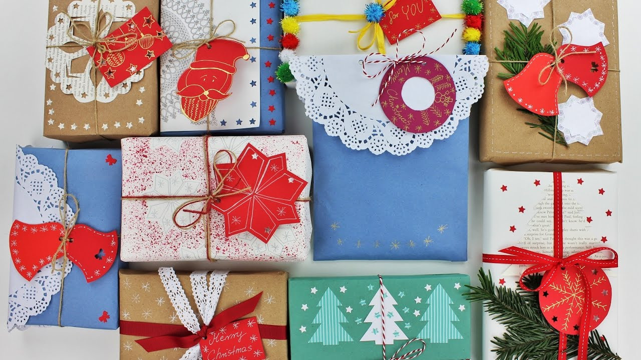 Christmas Gift Wrap Ideas  10 Creative Christmas Gift Wrapping Ideas Wrapping ts