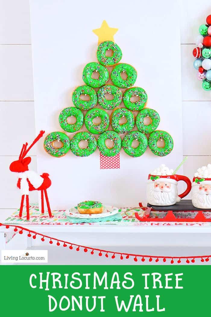 Christmas Homemade Craft  Christmas Tree Donut Wall EASY Party Food Idea Living