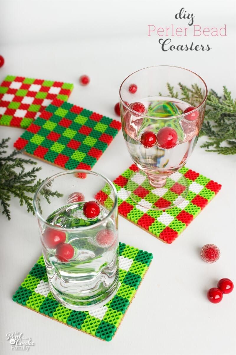 Christmas Homemade Craft  DIY Coasters A Cute Christmas Craft or Gift Idea