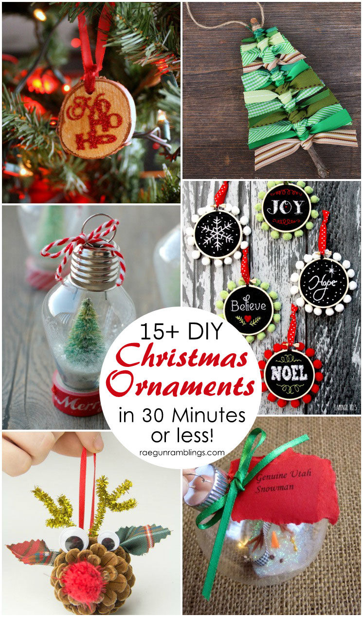 Christmas Homemade Craft  15 DIY Christmas Ornament Tutorials Rae Gun Ramblings