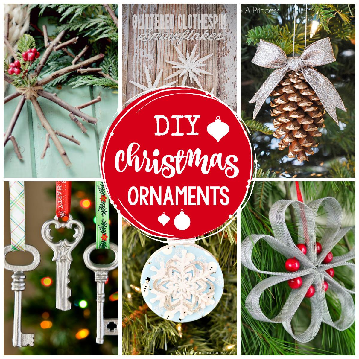 Christmas Homemade Craft  25 DIY Christmas Ornaments to Make This Year Crazy