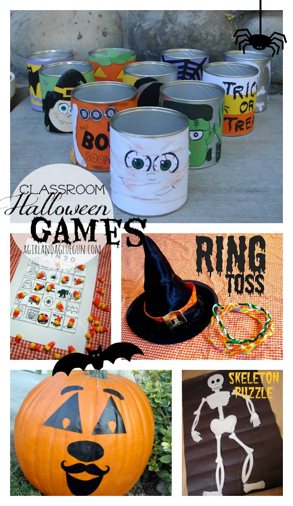 Classroom Halloween Party Ideas  Pumpkin Golf Halloween Game Eighteen25