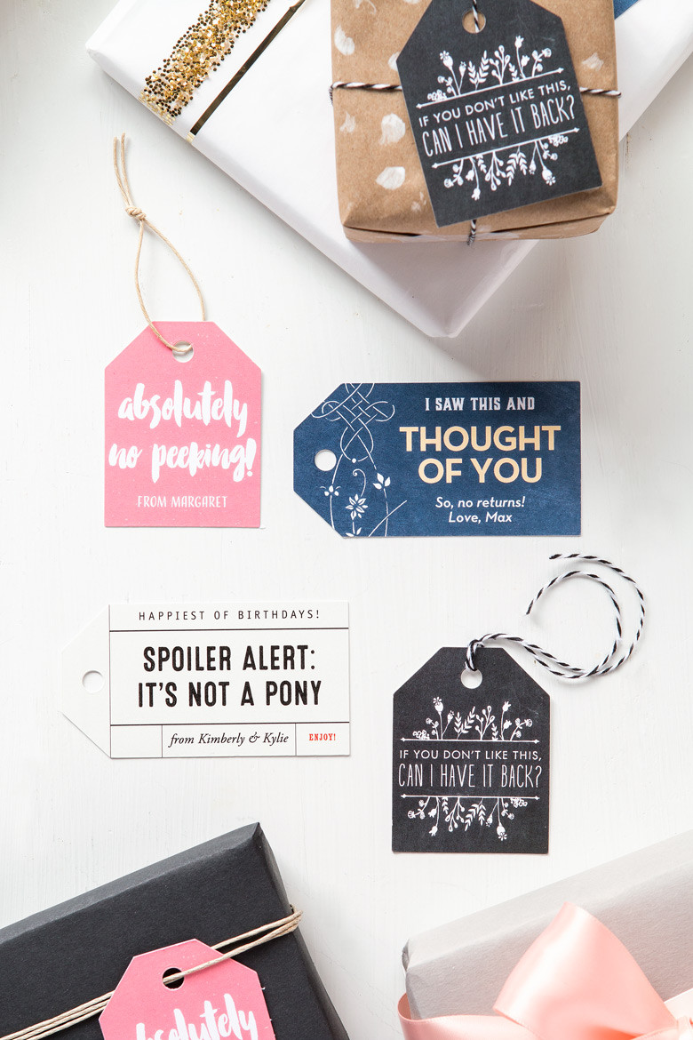 Clever Birthday Gifts  Clever Birthday Gift Tags DIY luggage tags