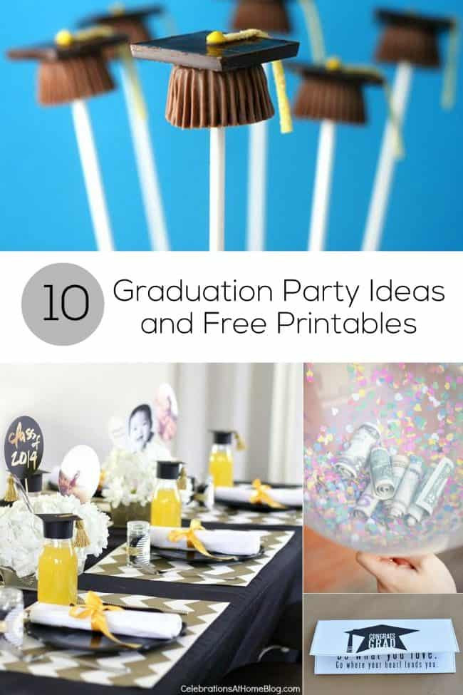 College Graduation Party Ideas For Adults  10 Graduation Party Ideas and Free Printables for Grads