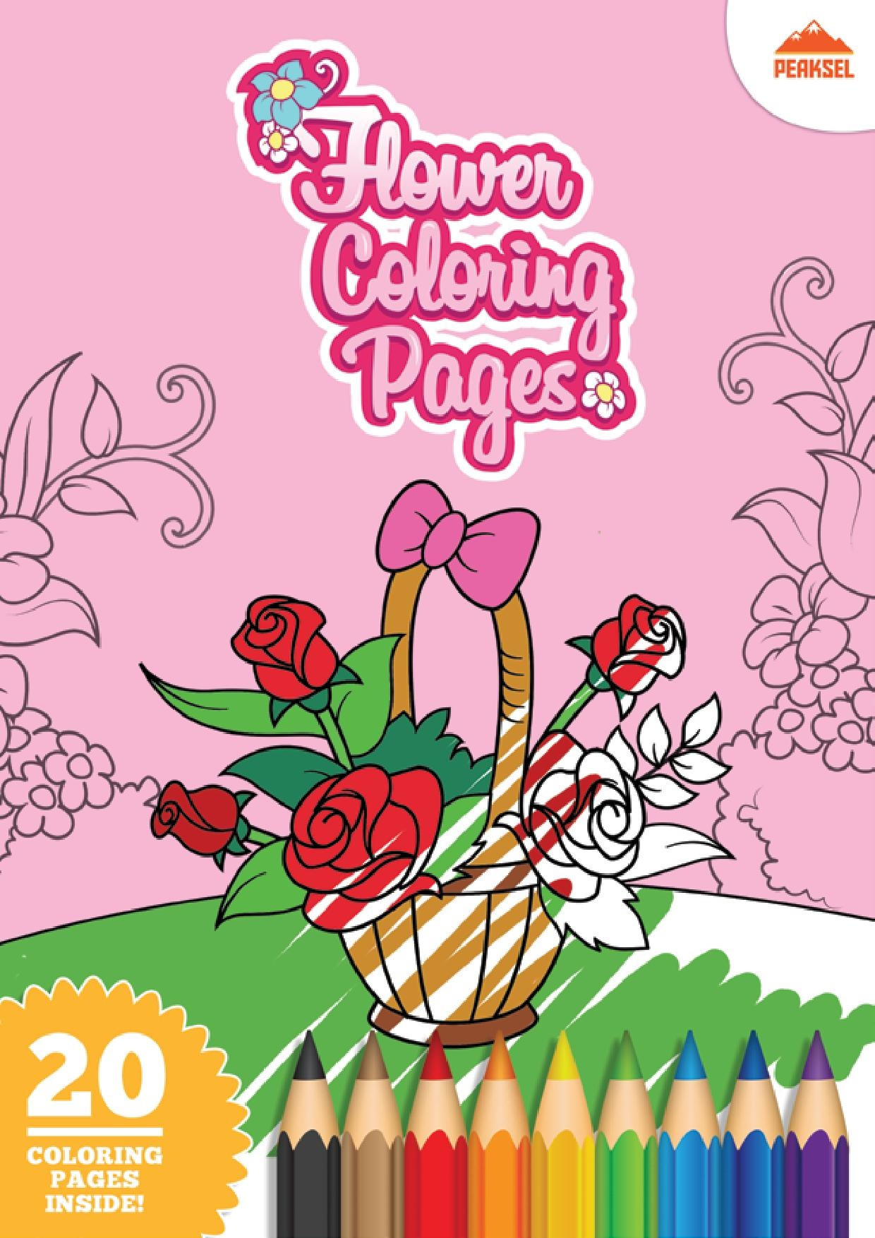 Coloring Book For Kids Pdf  File Flower Coloring Pages Printable Coloring Book For