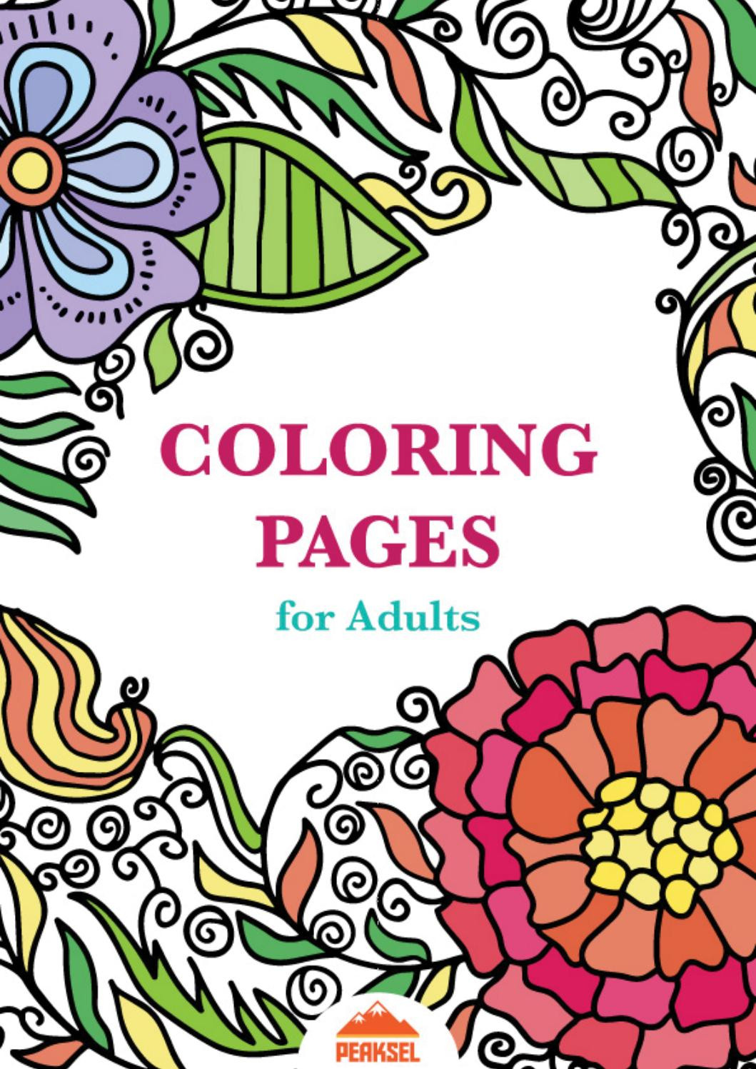 Coloring Book For Kids Pdf  Coloring Pages for Adults Free Adult Coloring Book by