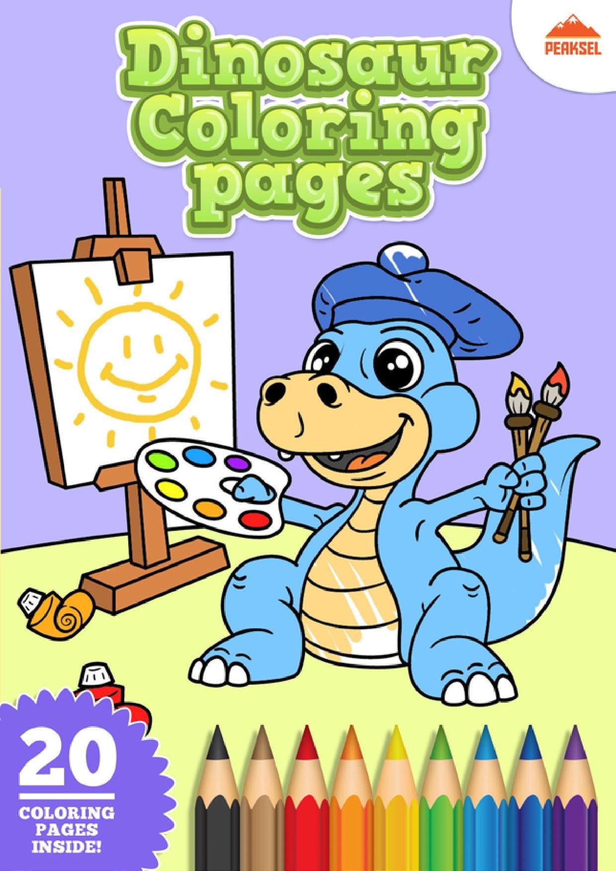 Coloring Book For Kids Pdf  File Dinosaur Coloring Pages Printable Coloring Book For