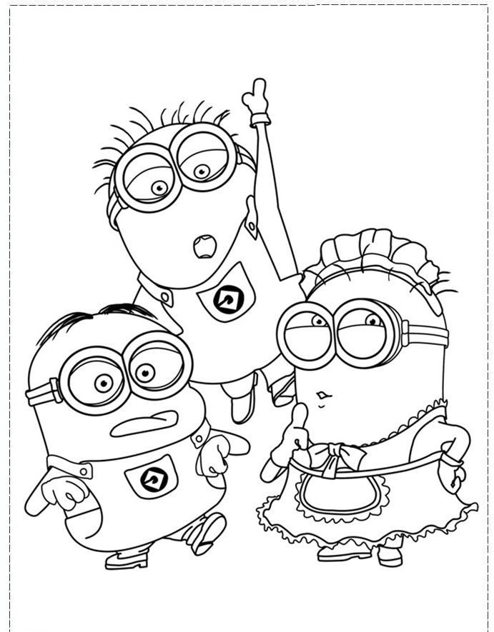 Coloring Pages Disney Boys  The Minion Character Girl And Boy Coloring Pages