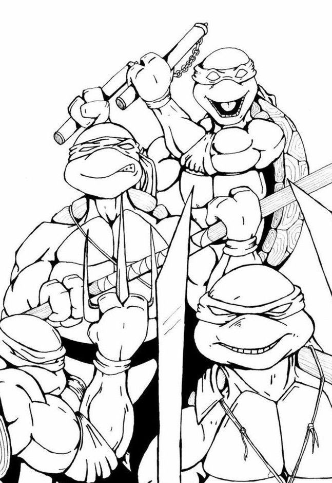 Coloring Pages Disney Boys  Top 25 Free Printable Ninja Turtles Coloring Pages line